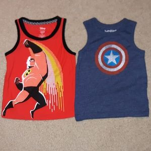 *New Listing* Incredibles & Capt America tanks